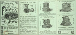 Advert for Rollins & Co's Florence Oil Stoves